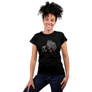 Black Girls Lead Rhinestone Bling T Shirt