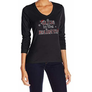 Bling In The Holidays Rhinestone T-Shirt