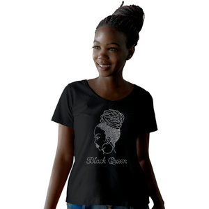 Black Queen Braided Afro Puff T-Shirt