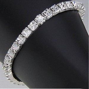 Single Row Rhinestone Stretch Bracelet Silver Bracelets