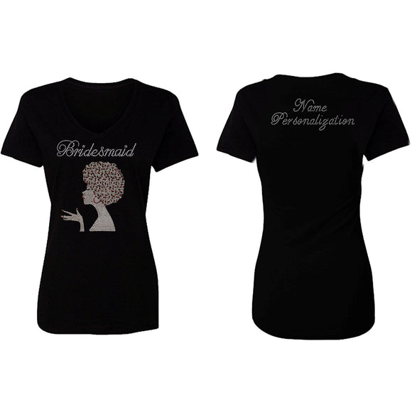 Personalized Bridesmaids Sophia Rhinestone T Shirt