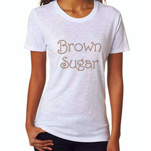 Brown Sugar Rhinestone Self Expression Tee