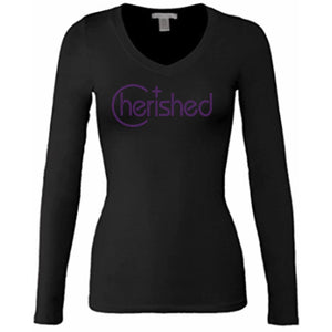 Cherished Rhinestone Self Expression T Shirt