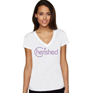 Cherished Rhinestone Self Expression T Shirt S / White Short T-Shrts