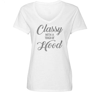Classy With A Touch of Hood V-Neck T Shirt