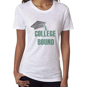College Bound Rhinestone T-Shirt