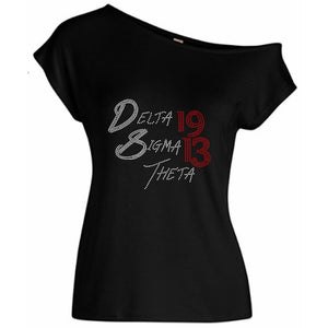 Delta Sigma Theta 1913 Off Shoulder Tee