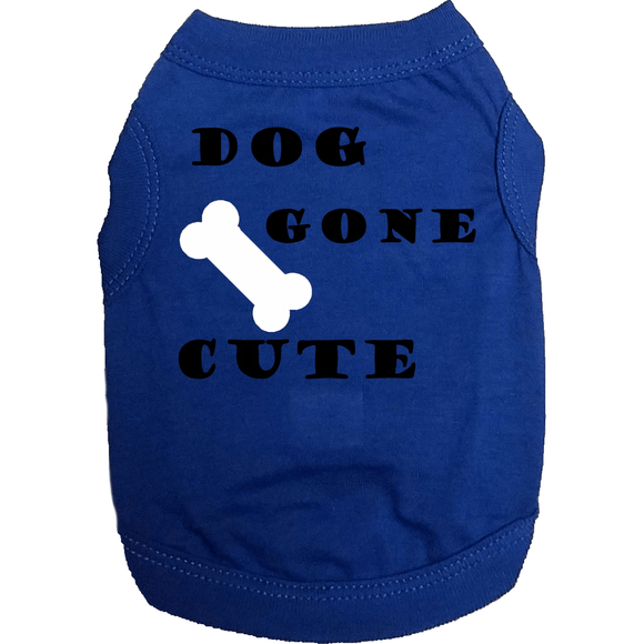 Dog Gone Cute Doggy T Shirt Xs / Blue Shirts