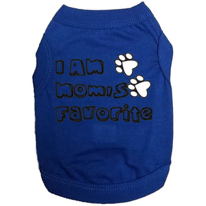 I Am Moms Favorite Doggy T Shirt Xs / Blue Dog Shirts