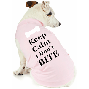 Keep Calm I Dont Bit Doggy T Shirt Xs / Pink Dog Shirts