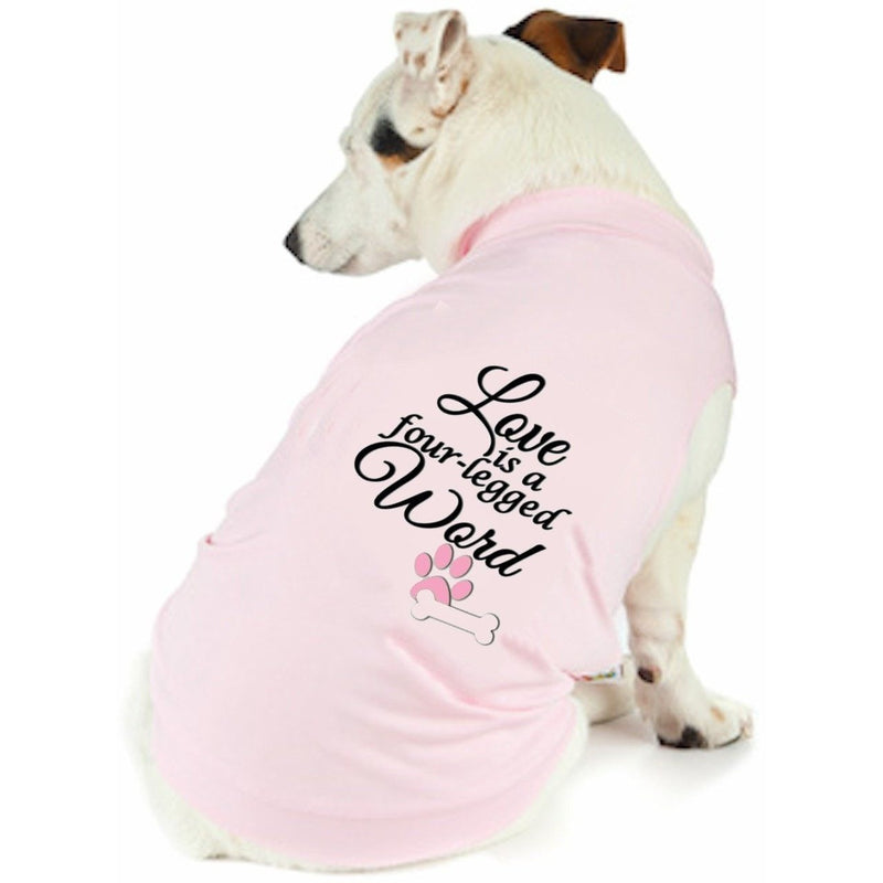 Dog T Shirts - Love Is 4 Legged Word Doggy T Shirt