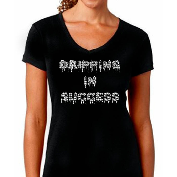 Dripping In Success Rhinestone Self Expression Tee