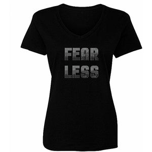 Fearless Rhinestone Self Expression Tee S / Black Short T-Shrts