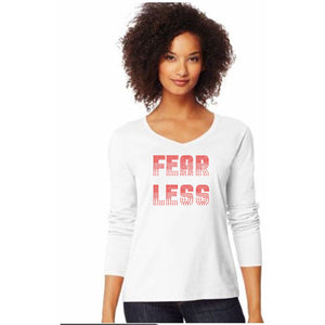 Fearless Rhinestone Self Expression Tee S / White Short T-Shrts