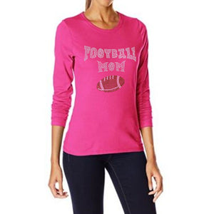 Football Mom Rhinestone T Shirt - Zoe and Eve