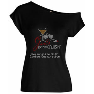 Girls Gone Crusin Personalized Rhinestone Tee