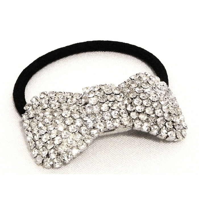 Rhinestone Bowtie Ponytail Holder