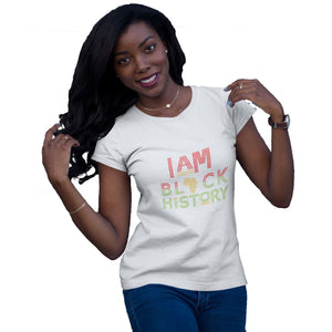 I Am Black History Rhinestone T Shirt