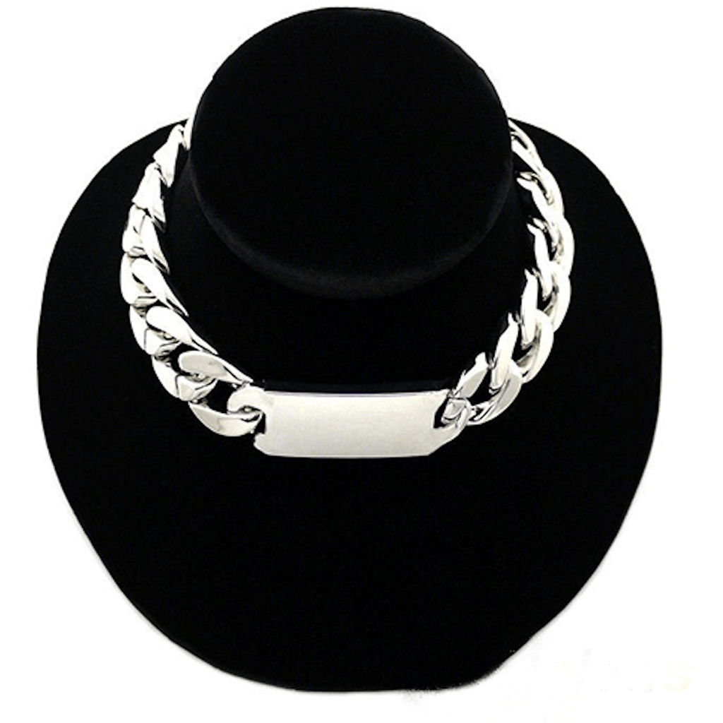 Nacklace - Celibrity Inspired Chunky ID Chain Choker Necklace Jewelry