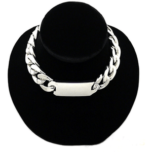 Celibrity Inspired Chunky ID Chain Choker Necklace Jewelry
