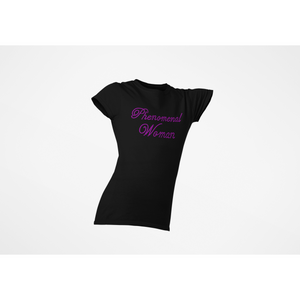 Phenomenal Woman Rhinestone T-Shirt