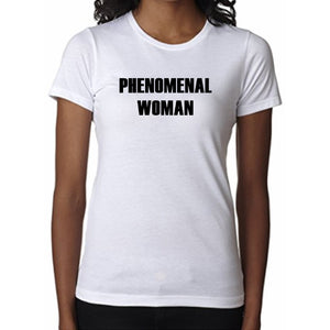 Phenomenal Woman V Neck Tee