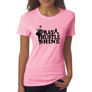 Pray Hustle Shine Self Expression Tee