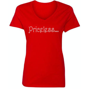 Priceless Rhinestone Self Expression T Shirt