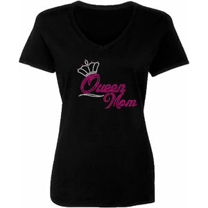 Queen Mom Rhinestone Bling T Shirt