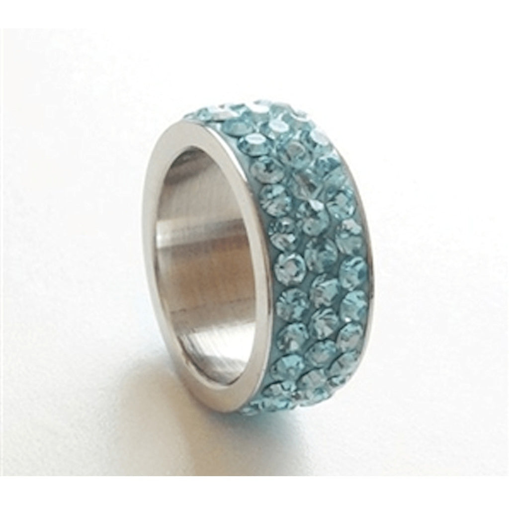 Rings - Powder Blue Rhinestone Ring