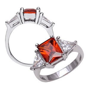Sterling Silver Garnet Ring 6 / Red Rings