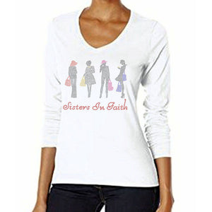 Sisters In Faith Rhinestone T-Shirt