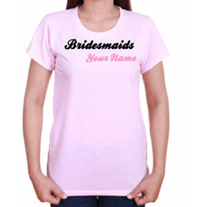 Personalized Bridal Party T Shirts