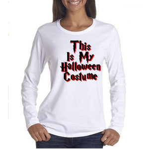 This Is My Halloween Costume Tee Xl / White T Shirt