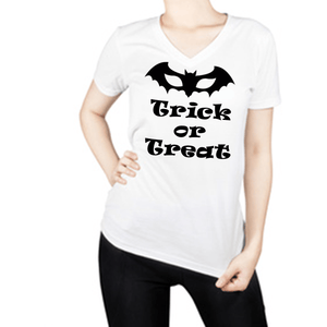 Trick Or Treat Halloween T Shirt Xl / White T Shirt