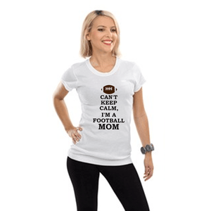 Cant Keep Calm Football Mom T Shirt Xl / White Long T Shirts