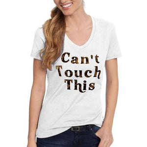 Cant Touch This Leopard Print T Shirt Xl / White Short T Shirts