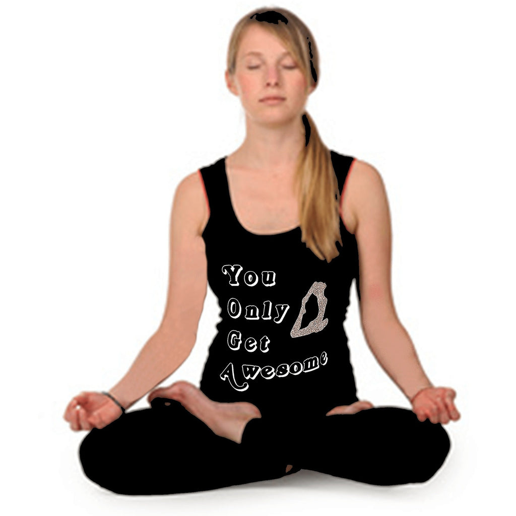 T Shirts - YOGA You Only Get Awesome Tank Top