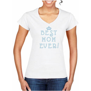 Best Mom Ever Rhinestone T Shirt