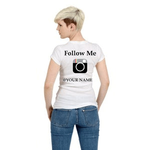 Follow Me Instagram T Shirt Small / White Female T-Shrts