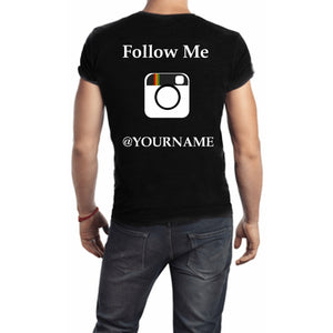 Follow Me Instagram T Shirt Small / Black Male T-Shrts