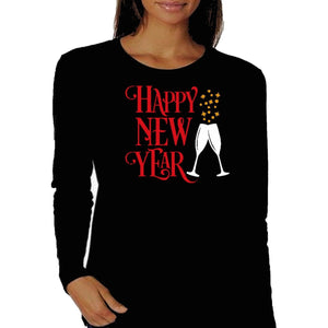 Happy New Year Wine and Bubbles T Shirt