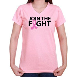 Join The Fight Breast Cancer Awareness T Shirt - Zoe and Eve