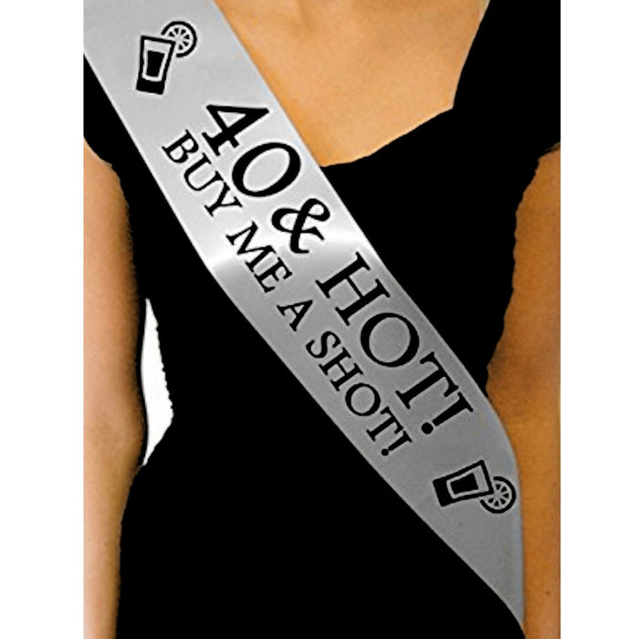 Personalized Age Hot Buy Me A Shot Sash