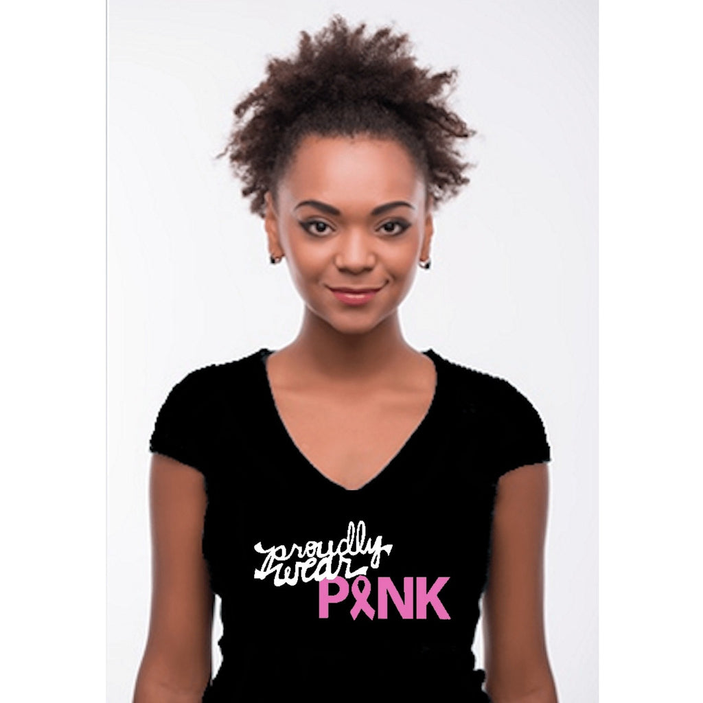 T-Shrts - Proudly Wear Pink Breast Cancer Awareness T Shirt