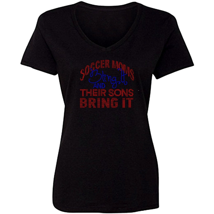 Soccer Moms Bling It Rhinestone T Shirt