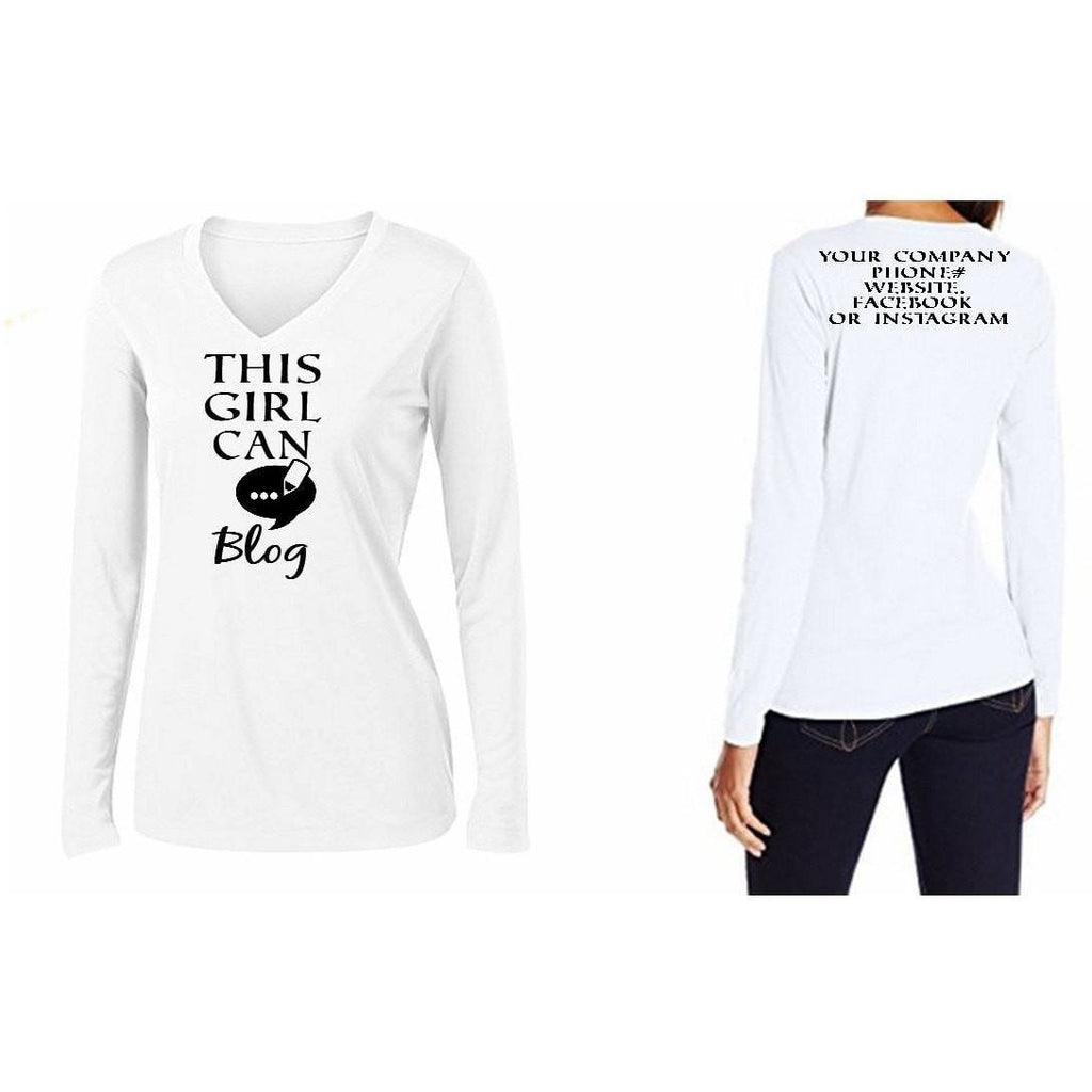 T-Shrts - This Girl Can Blog Personalized T Shirt