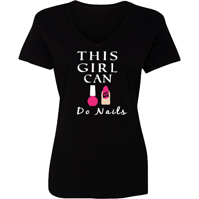 T-Shrts - This Girl Can Do Nails Personalized T Shirt