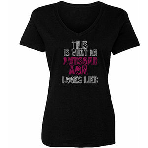 This Is What Awesome Mom Looks Like Rhinestone Tee - Zoe and Eve