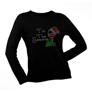 Tis The Season Rhinestone Christmas T Shirt